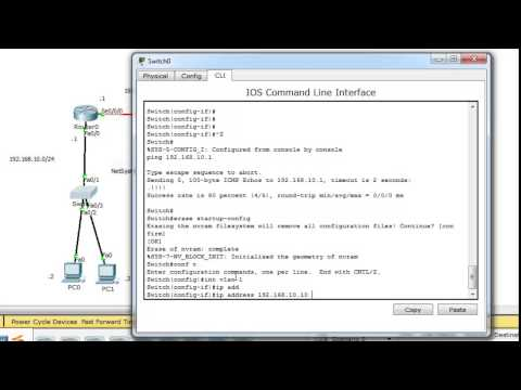 Assign ip address to cisco switch / Assign ip address to vlan