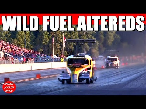 2017 Funny Car Nationals Fuel Altereds Drag Racing Drastic Plastic Video