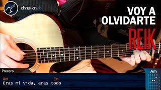 Como tocar Voy a Olvidarte REIK en Guitarra  Tutorial COMPLETO