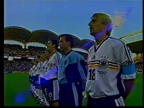 Germany - Croatia World Cup FRANCE 98 - Lineups & National Anthem