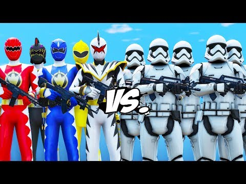 POWER RANGERS DINO THUNDER VS STORMTROOPERS ARMY