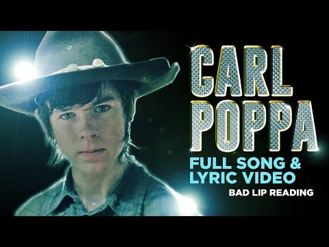 Carl - Lyric video of Carl's song from The Walking Dead Season 4 Bad Lip Reading: http://youtu.be/-6BsMzc9mMs Song on iTunes: http://goo.gl/Iq6blZ Song on Amazon: h...