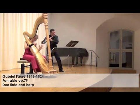 Gabriel Fauré Fantaisie op.79 – Duo: Flute and harp, Silke Aichhorn – Harfe / Harp