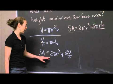 Maximum Surface Area   MIT 18.01SC Single Variable Calculus, Fall 2010