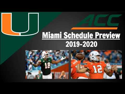 Miami Football Schedule Preview And Predictions 2019