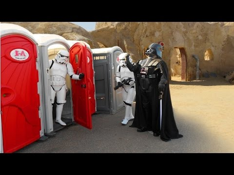 They Step into a Porta Potty, They step out into the Death Star