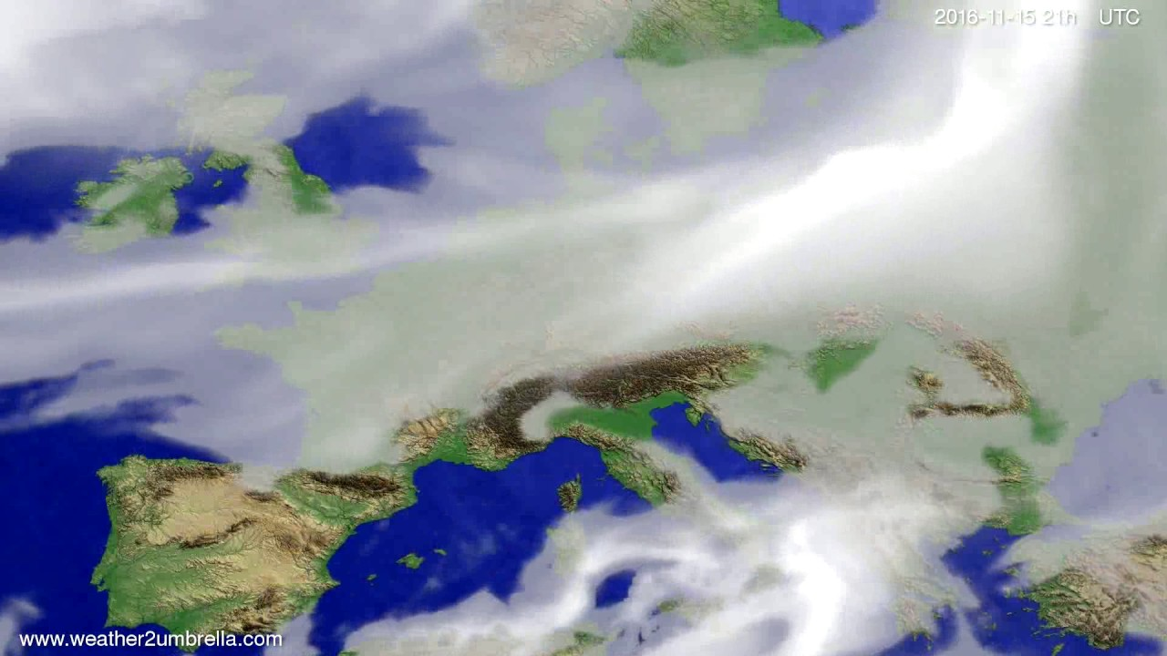 Cloud forecast Europe 2016-11-12