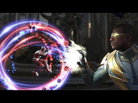 Injustice 2 : Atom Vs Black Lightning - All Intro/outros, Clash Dialogues, Super Moves