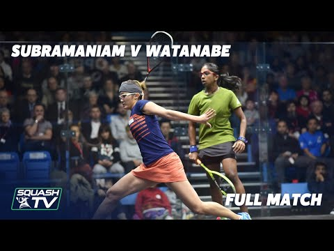 Squash: Subramaniam v Watanabe - British Junior Open Rewind - U19s Final 2018