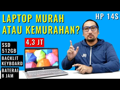 Laptop Paling Murah dengan 512GB SSD dan Backlit Keyboard: Review HP 14s-CF1051TU Celeron 4205U