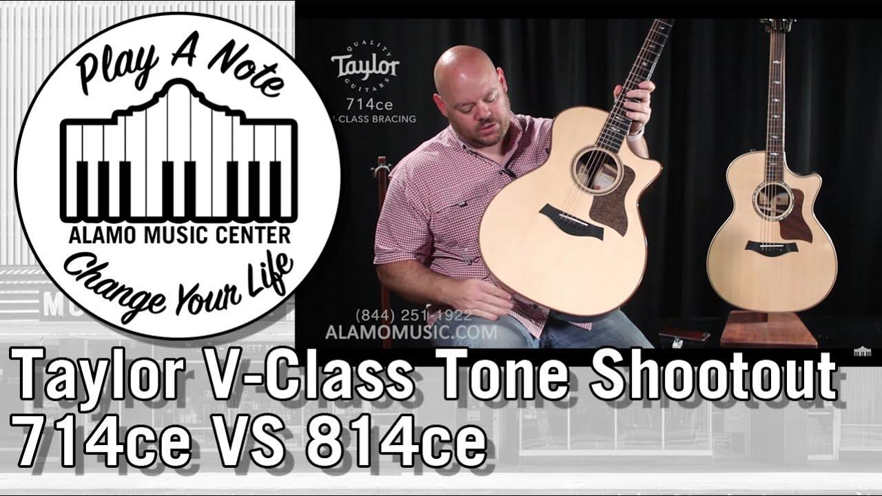 New For 2018 Taylor V-Class Acoustic Guitar Tone Shootout – 714ce VS 814ce