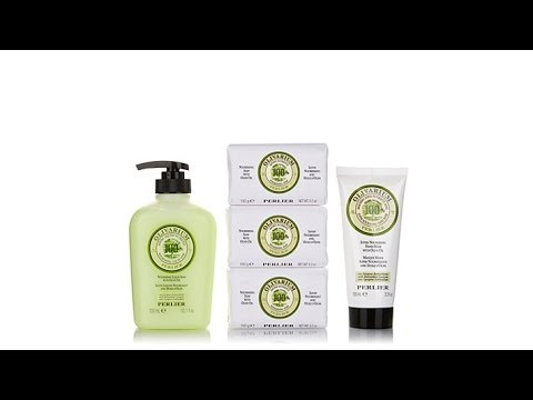 Perlier Olive Oil Bath and Body Set