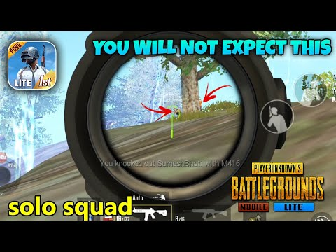 You Will Not Expect This | PUBG Mobile Lite Solo Squad Gameplay
