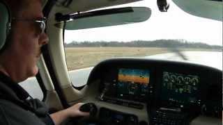 Cirrus SR-20 KBTL Take Off Runway 23-L