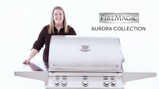 Take a close look at the Fire Magic Aurora Gas Grill in this video review!  Shop Fire Magic Here: https://www.bbqguys.com/fire-magic/aurora-a660s-30-inch-freestanding-propane-gas-grill-with-one-infrared-burner-analog-thermometer-rotisserie-and-single-side-burner-a660s-6lap-62About the Fire Magic Aurora A660:Crafting American-made premium grills for over 75 years, Fire Magic is dedicated to providing you with a quality outdoor cooking experience. From the moment you light your Fire Magic Aurora grill, you know you are on to something great. This Fire Magic gas grill features 304 stainless steel construction for lasting quality, and sleek styling with a seamless control panel and integrated analog thermometer. This Aurora gas grill features a spring-assisted, double-walled tear-drop hood, built-in interior lights, a removable warming rack, a 12V electric hot surface ignition with flash tube back-up and a 12 inch deep firebox for complete convection cooking. The one main infrared and two cast stainless steel E burners produce a total of 75,000 BTUs on the grilling surface, and the stainless steel Diamond Sear cooking grids provide an ample 660 square inches of grilling area while a secondary grid supplies 228 square inches for a total of 888 square inches. This grill also features a 19,000 BTU stainless steel rotisserie burner with grill light and rotisserie kit. Cleaning the grill is easy with the included grid lifter and the disposable drip pan collection system that is designed to prevent grease pan flare-ups. This grill comes on a stainless steel cart with dual storage doors and two side shelves. The cart includes a single 15,000 BTU side burner flush mounted in one of the side shelves. Also included on the cart is a folding multi-tool holder, folding paper towel holder, and four locking casters. A 120V power source is required.Featuring: Jordan ParrishProduced/Filmed by: Paris Frederick