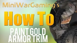 How To: Paint Gold Armor Trim