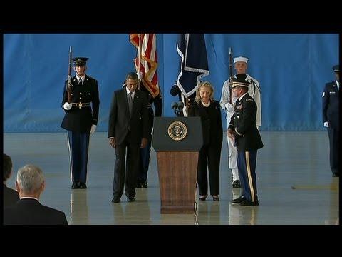 Etats-Unis: retour des corps des 4 hommes tués en Libye