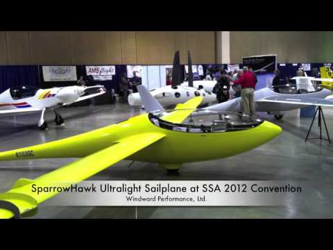 Sailplanes - Short video of the DuckHawk 15 meter racing sailplane and the SparrowHawk ultralight sailplane, designed and manufactured by Windward Performance, Ltd. of Be...