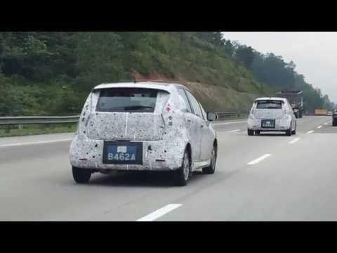 2014 Proton Compact Car spied on PLUS Highway