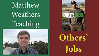 """What can we learn from other peoples' jobs? I love exploring the world and one way to do that is by learning about what others do for a living.In this video, I talk about two books and two TV shows.The books: """"Skyfaring"""" by Mark Vanhoenaker and """"Working"""" by Study Terkel, plus TV shows """"Dirty Jobs"""" and """"Undercover Boss."""""""