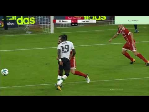 Fantastic Sadio Mane Assist For GOAL Liverpool  VS Bayern Munich 2-0 (AUDI CUP) 2017
