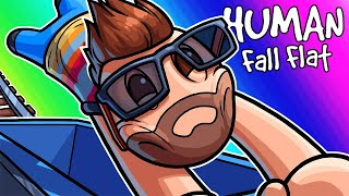 Human Fall Flat Funny Moments - Obstacles and Dumpster Races! by Vanoss Gaming
