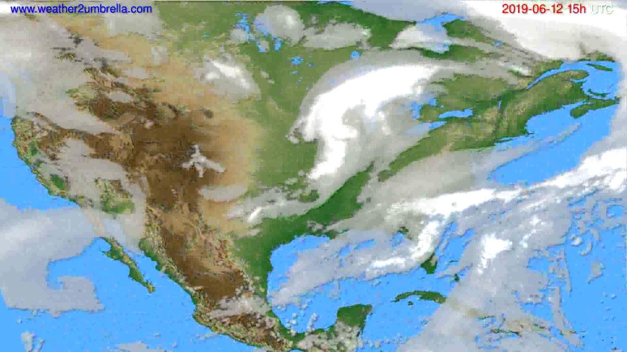 Cloud forecast USA & Canada // modelrun: 12h UTC 2019-06-09
