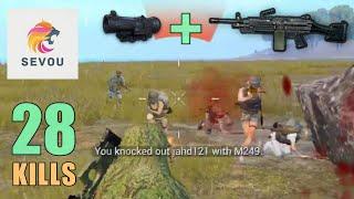 Video M249 + 6x Scope MADNESS!!!   28 KILLS   SOLO SQUAD   PUBG Mobile MP3, 3GP, MP4, WEBM, AVI, FLV Maret 2019
