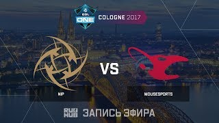 NiP vs Mousesports - ESL One Cologne 2017 - de_cache [ceh9, yXo]