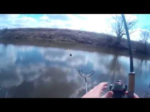 ловля леща весной на фидер на оке видео