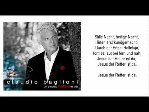 Tekst piosenki Claudio Baglioni - Stille Nacht po polsku