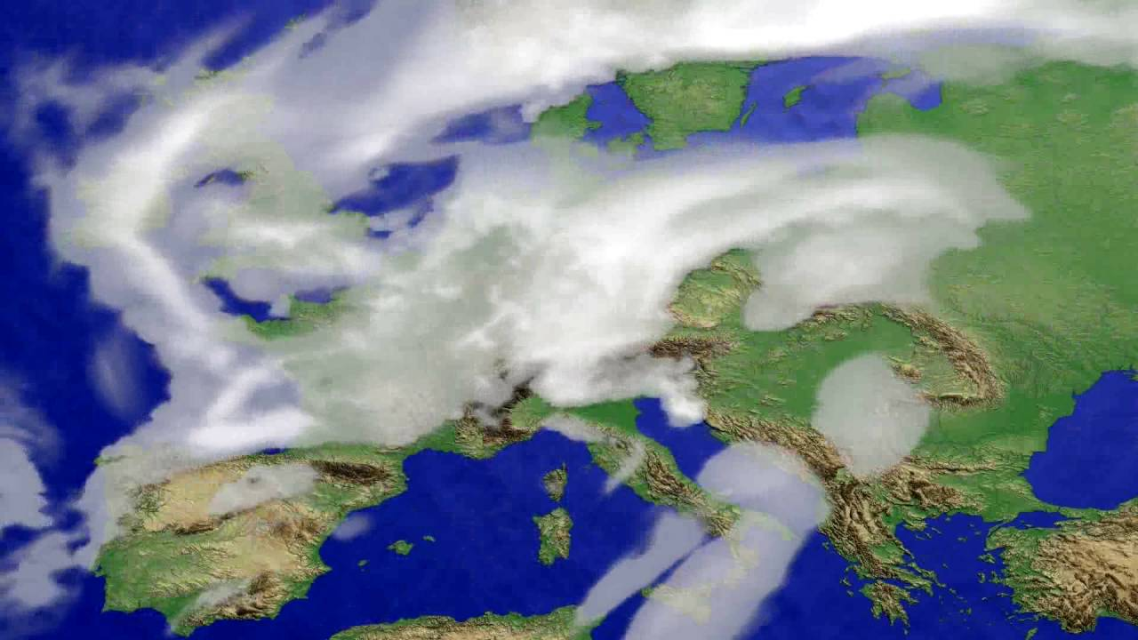Cloud forecast Europe 2016-06-13