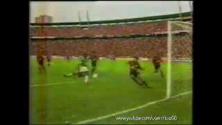Primeira partida da decisão do Campeonato brasileiro de 1993. partida disputada no Estádio da Fonte Nova. Gol do capetinha...