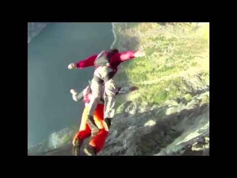 Paralyzed Base Jumper Gets a Piggyback Ride Off Cliff