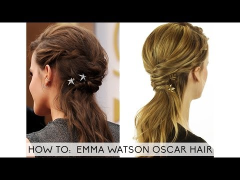 Emma Watson Hair Oscar 2014 Tutorial
