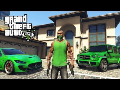 GTA 5 Real Life Thug Mod #25 - BUYING A NEW CAR & APARTMENT!! (GTA 5 Mods) (видео)