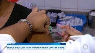 Procura por vacina contra a gripe é baixa em Marília
