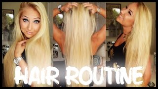 ♡ My Hair Routine ♡ | Wet to Dry + Coconut Oil - YouTube
