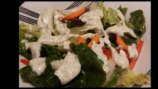 In this video, I show you how I make my soy-free, all natural vegan ranch dressing. This recipe is simple yet very tasty. Give it a try!