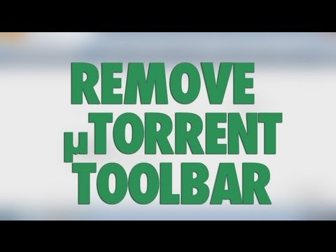 Utorrent Toolbar From Chrome Remover