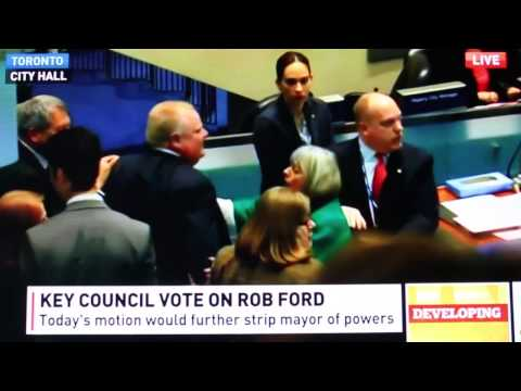 The hits keep coming! Embattled Toronto mayor Rob Ford reached a new level of viral infamy when he crashed into a fellow council member. Watch and cringe.