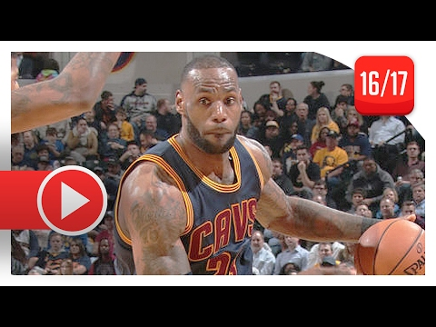 LeBron James Full Highlights vs Pacers (2017.02.08) - 25 Pts, 9 Ast