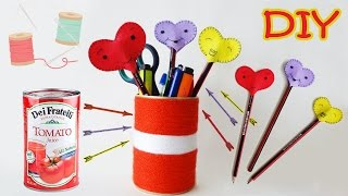 "Hello everyone! ♥︎ In this video I'll show you How To Make Super Easy and cheap Pencils Holder from Tomato Can and Felt Pencil Toppers!For this awesome Do-It-Yourself project you will need: Felt, Tomato Empty Can, Wool, Pencils, Scissors, Glue, Needle & Thread. Follow my video instructions and you'll easily make them yourself.Hope you enjoyed the video. Thumbs up to let me know :)  Love you guys! ♥︎Follow me:✳INSTAGRAM - http://instagram.com/dianatarose✴TWITTER - https://twitter.com/DianataRose✴FACEBOOK - https://www.facebook.com/dianatarose✳My Life Channel - https://goo.gl/bTjqmB✴BLOG - http://dianatarose.blogspot.com/✳PINTEREST - https://www.pinterest.com/DianaTaRose/✴GOOGLE PLUS - https://goo.gl/NYKCeN======================================Hey, I'm Diana, from Georgia Country. I make videos about DIY projects, MakeUp Transformation, VLogs and basically anything that I love. I hope, that my channel inspiring you and give you some cool ideas, as like you inspiring me for making more and more beautiful videos! ❤======================================*** Your ""Thumbs Up"" and Subscription inspire me to make other beautiful videos! Thank you all for your support!"