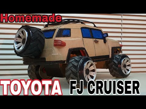 How to make TOYOTA FJ CRUISER /remote control/cardboard/very simple
