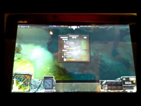 Dota 2 on Android Tablet