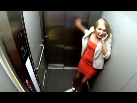 Falling Elevator Prank (видео)