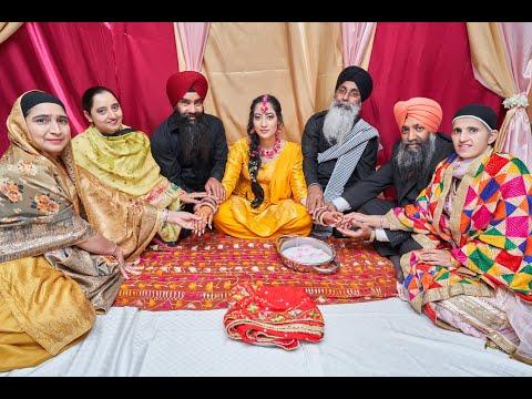 Wedding Highlights|Punjabi Wedding|Sikh Wedding| Maiyan Ceremony|Amritjot