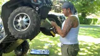 10. ATV Can Am Outlander Max 800 Skid plate warn remote winch