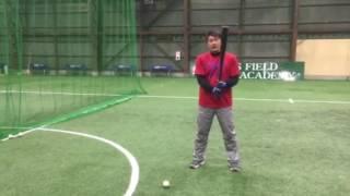 「横投げティーバッティング」 野球教室(ブリスフィールド東大阪 平下コーチ)