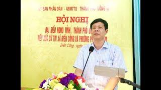 Đại biểu HĐND thành phố tiếp xúc cử tri xã Điền Công, phường Phương Nam